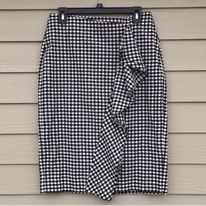 Who What Wear Ruffle Pencil Skirt